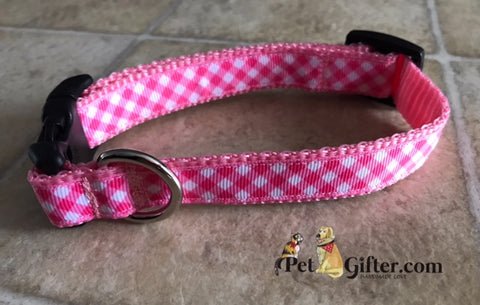 Small Collar - Pink Plaid