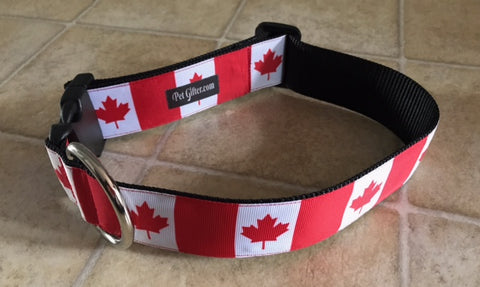 X Wide Collar - Canadian Flag