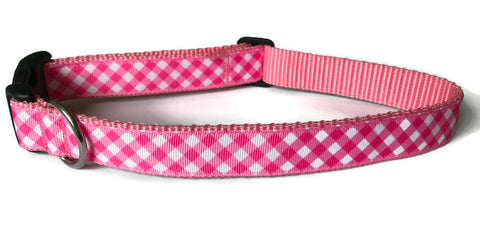 Dog Collar - Pink Plaid