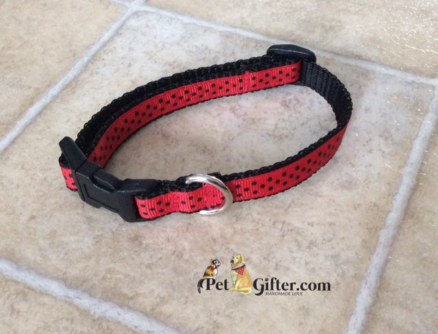 XS Collar - Red Dots