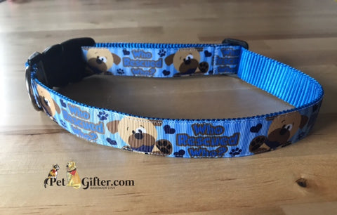Dog Collar - Who Rescued Who