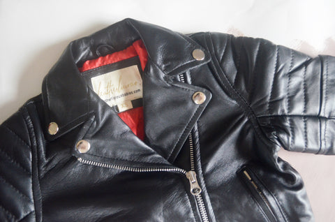 The Kiss Baby Leather Jacket