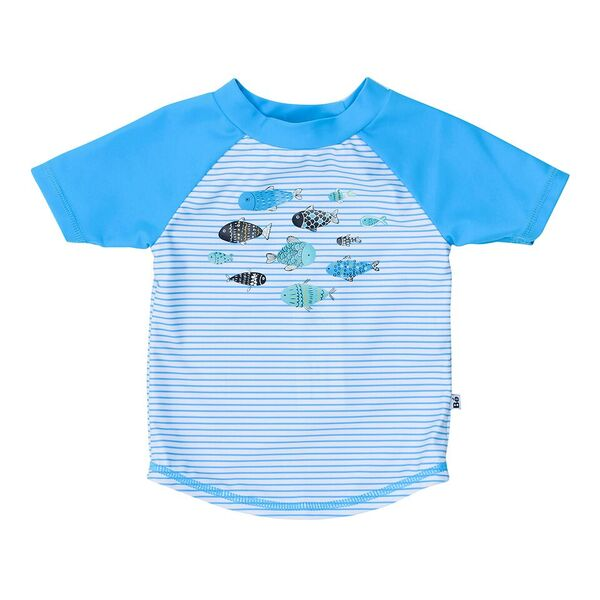 Caleb Short Sleeve Boys Fish Rash Vest