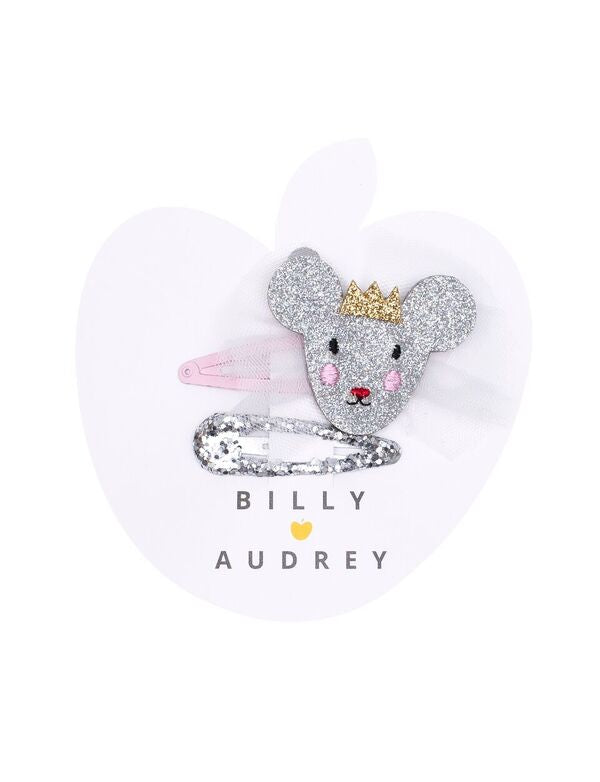 Billy Loves Audrey Princess Mouse 2pk Clips