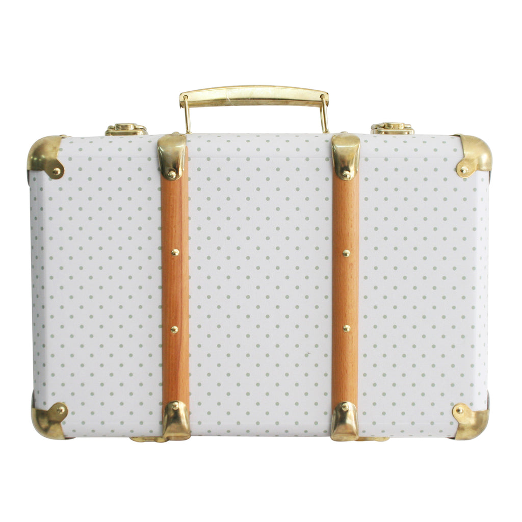 Mini Vintage Brief Case - Grey Spot