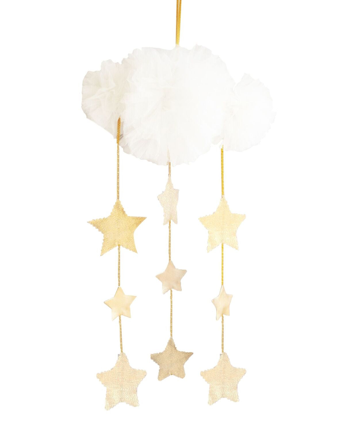 Alimrose Tulle Cloud Mobile - Ivory & Gold