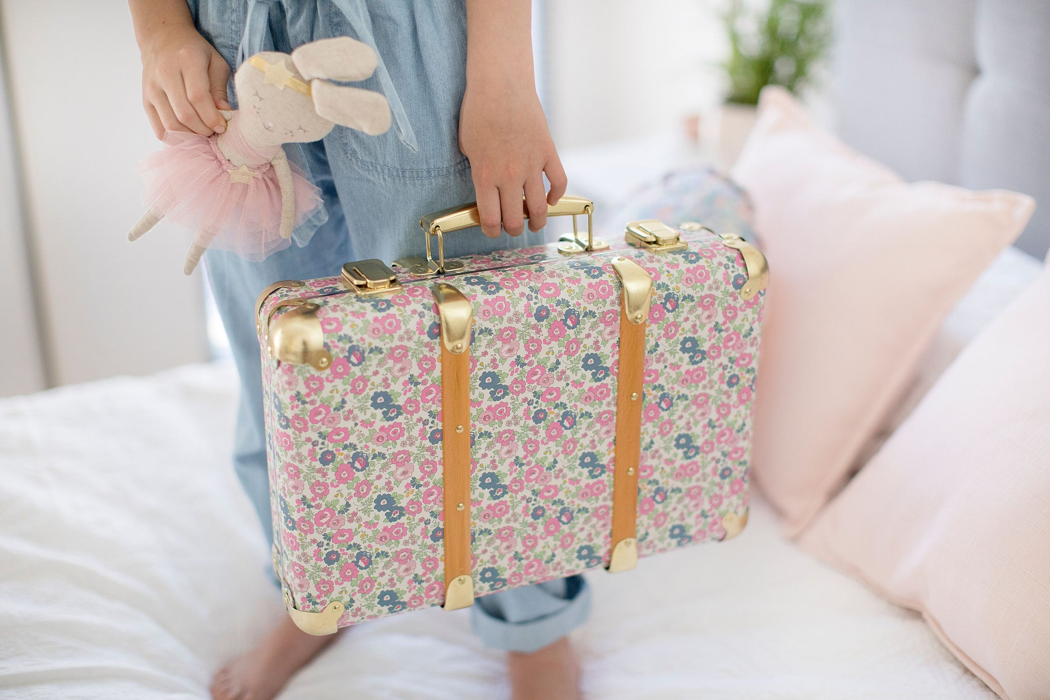 Mini Vintage Brief Case - Petite Floral