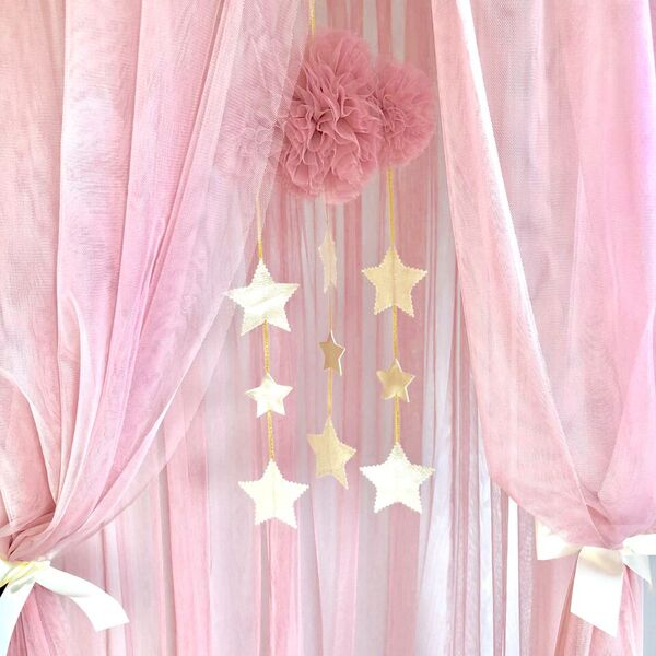 Alimrose Tulle Cloud Mobile - Blush and Gold