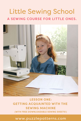 FREE Little Sewing School practice sheets