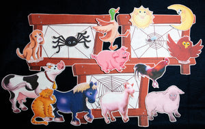 Farm Animal and the Busy Spider 17-pc Flannel Felt Story