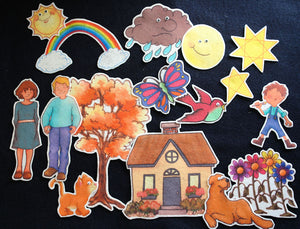 Draw Me a Star 16-pc Flannel Board Felt Story