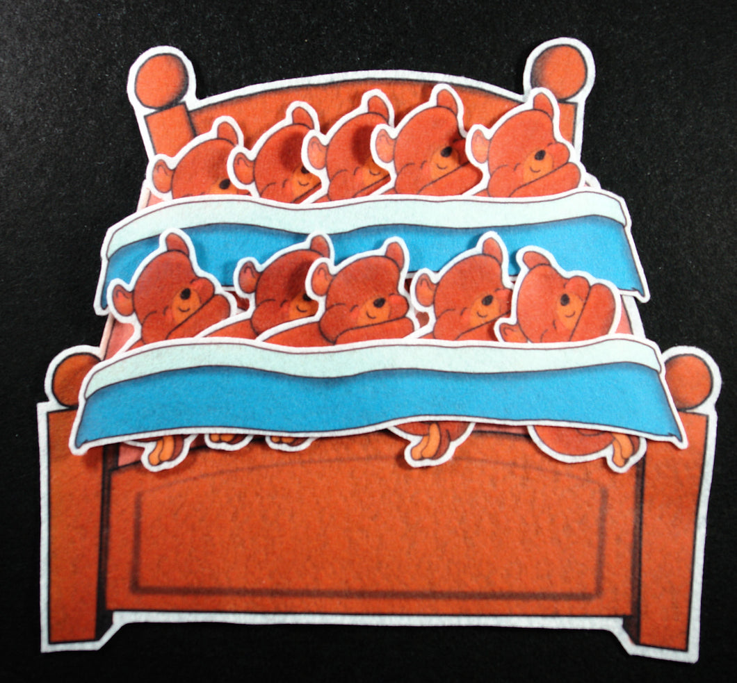 Ten Little Bears in a Bed 13-pc Felt Story