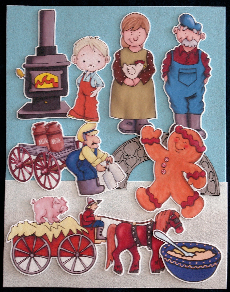 Gingerbread Baby 17-pc Flannel Felt Story