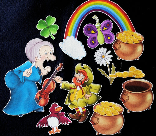 Old Lady who Swallowed a Clover 11-pc Felt Story