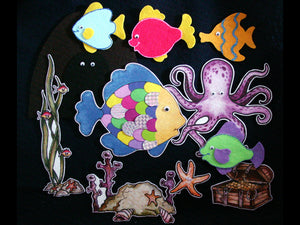Rainbow Fish 11-pc Flannel Felt Story