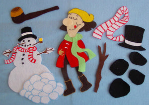 Cold Lady Who Swallowed Some Snow 11 pc felt set