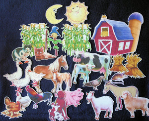 Big Red Barn 27-pc Flannel Felt Board Story