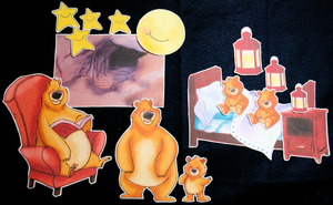 Can't You Sleep, Little Bear? 16-pc Flannel Board Felt Story