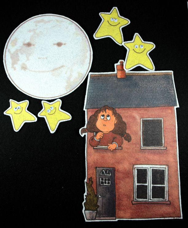 Papa, Please Get the Moon for Me 17-pc Flannel Board Felt Story