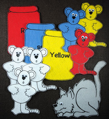 Mouse Paint 26-pc Flannel Felt Story