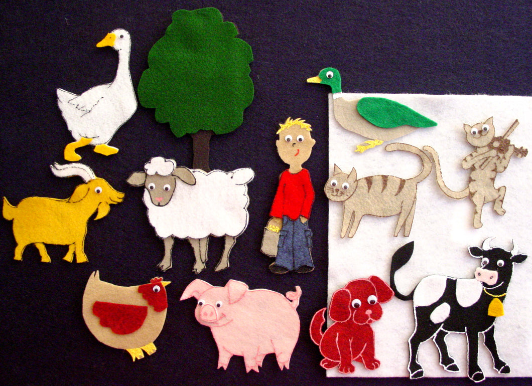 Fiddle-I-Fee 12-pc Flannel Felt Story