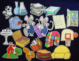 If You Take a Mouse to School 18-pc Flannel Felt Board Story