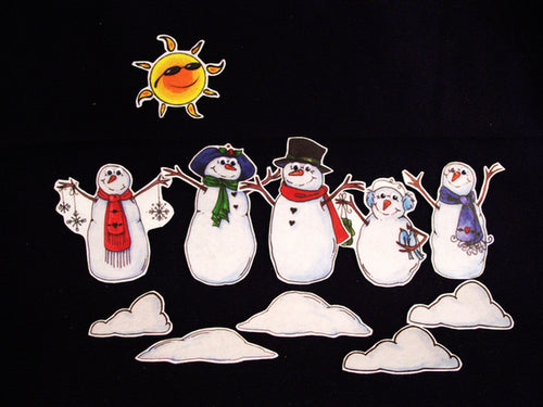 Five Little Snowmen 11-pc Flannel Felt Story