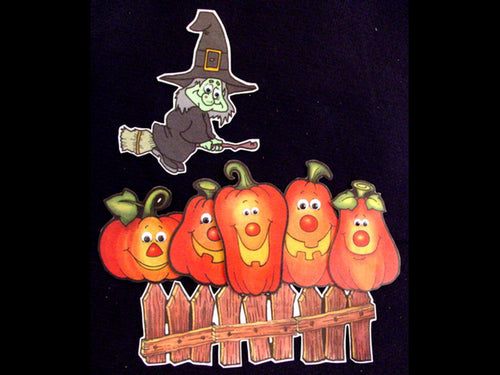 Five Little Pumpkins 7-pc Flannel Felt Story