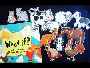 What If?/Baa Moo What Will We Do? 11pc Felt Story