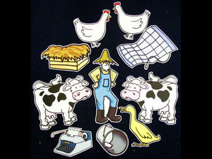 Click Clack Moo Cows That Type 10-pc Flannel Felt