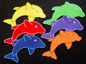 Five Little Fish 6-pc Flannel Felt Story