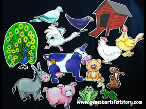 Barnyard Banter 14-pc Flannel Felt Board Story
