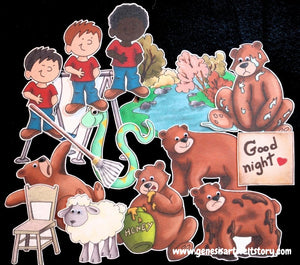Bear Came Over to My House 15-pc Flannel Felt Board Story