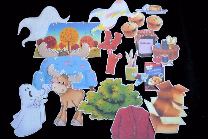 If You Give a Moose a Muffin 19-pc Flannel Felt Story