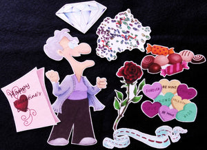 Old Lady who Swallowed A Rose 8-pc Felt Story