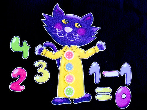 Pete the Cat and His Four Groovy Buttons 14-pc Felt Story