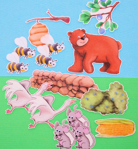 Where There is a Bear, There's Trouble 16-pc Felt Story