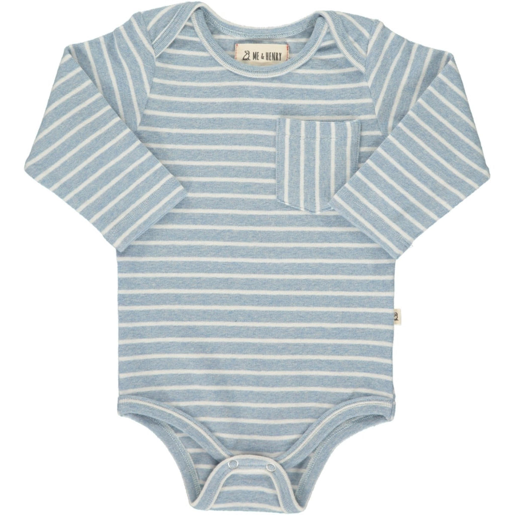 Blue Stripe Pocket Onesie