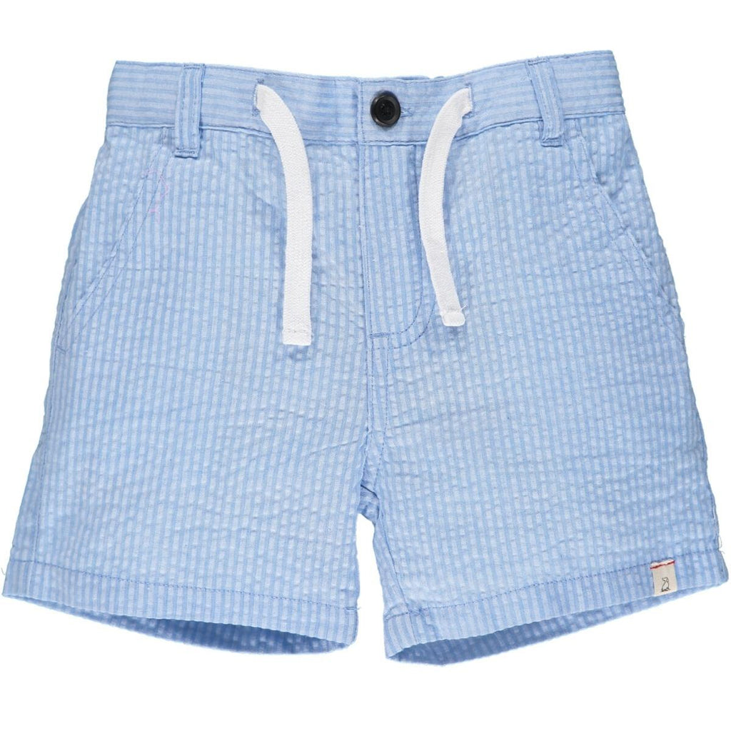Pale Blue Seersucker Shorts