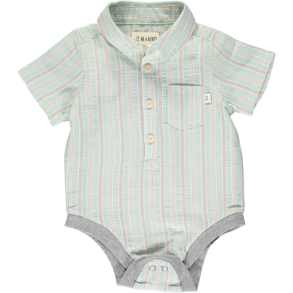 Pale Green Stripe Onesie