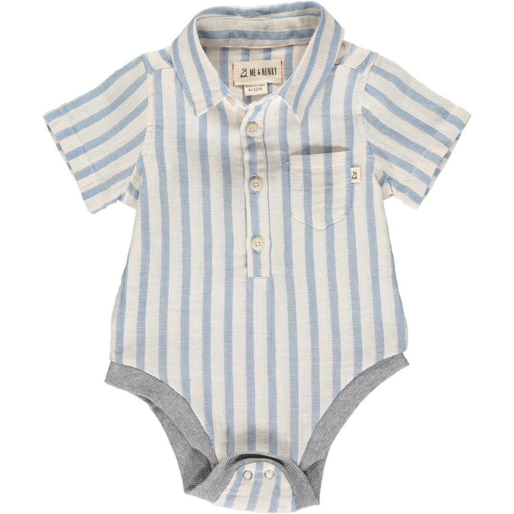 Blue & White Stripe Helford Onesie