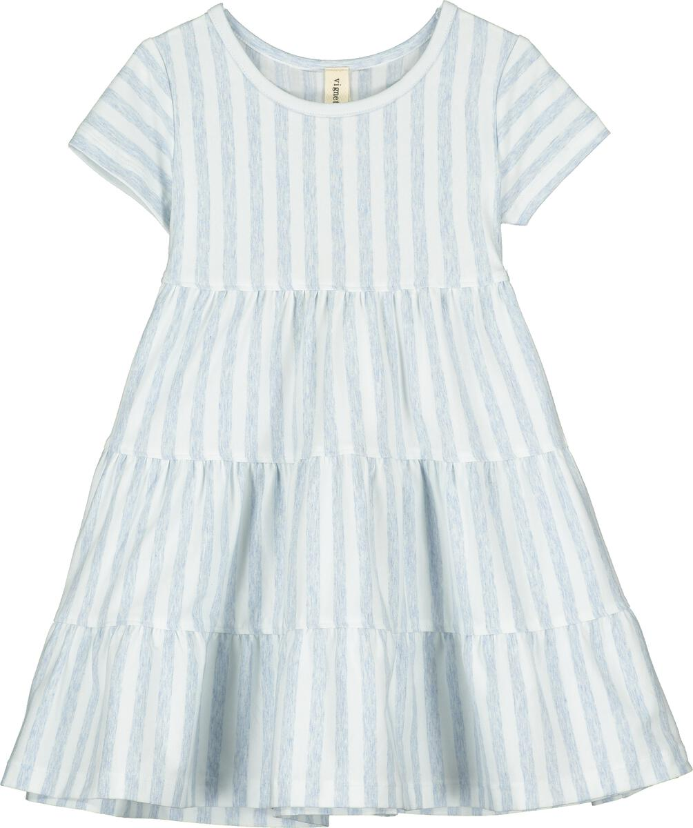 Iona Tiered Dress - Blue Stripe