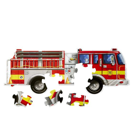 LOCAL PICK-UP/DELIVERY ONLY - Giant Fire Truck Floor Puzzle