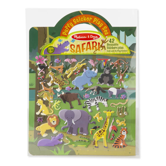 Puffy Stickers Play Set: Safari