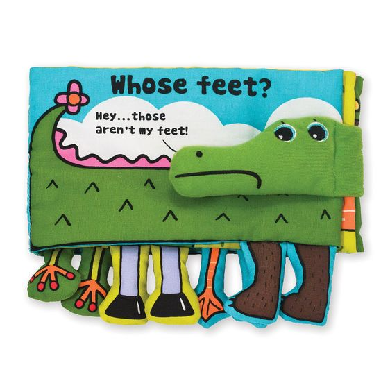 Whose feet? Squeaking, Crinkling cloth book