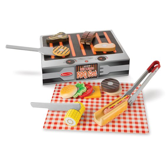 LOCAL PICK-UP/DELIVERY ONLY - Wooden Grill & Serve BBQ Set