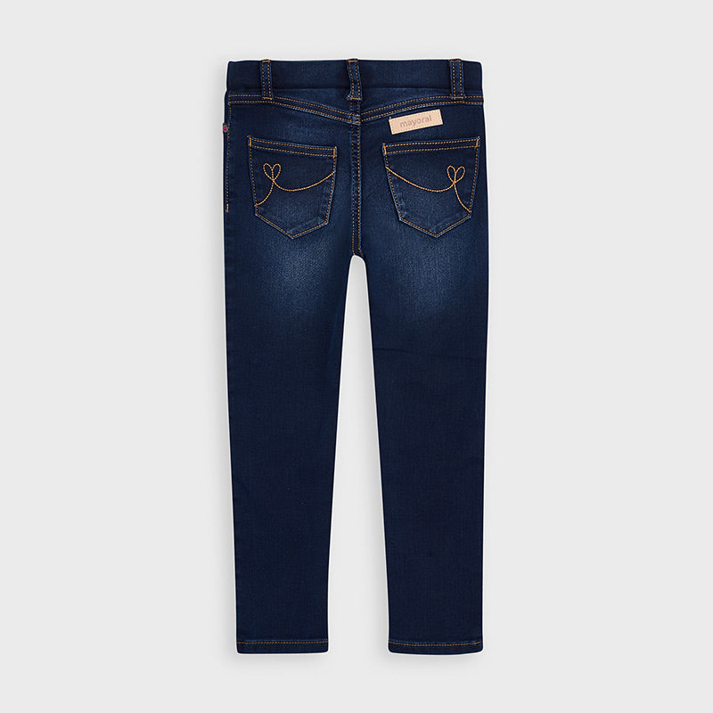 Super Skinny Dark Denim Heart Pants