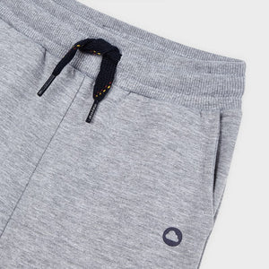 Smoke Grey Cuffed Fleece Trousers