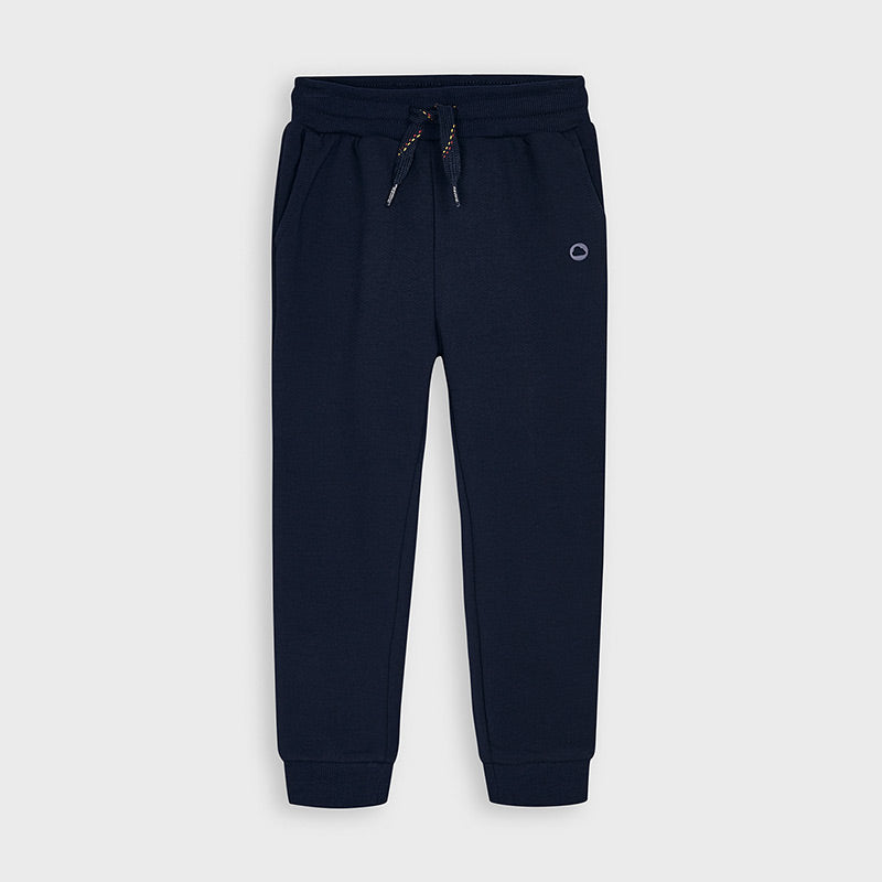 Navy Cuffed Fleece Trousers
