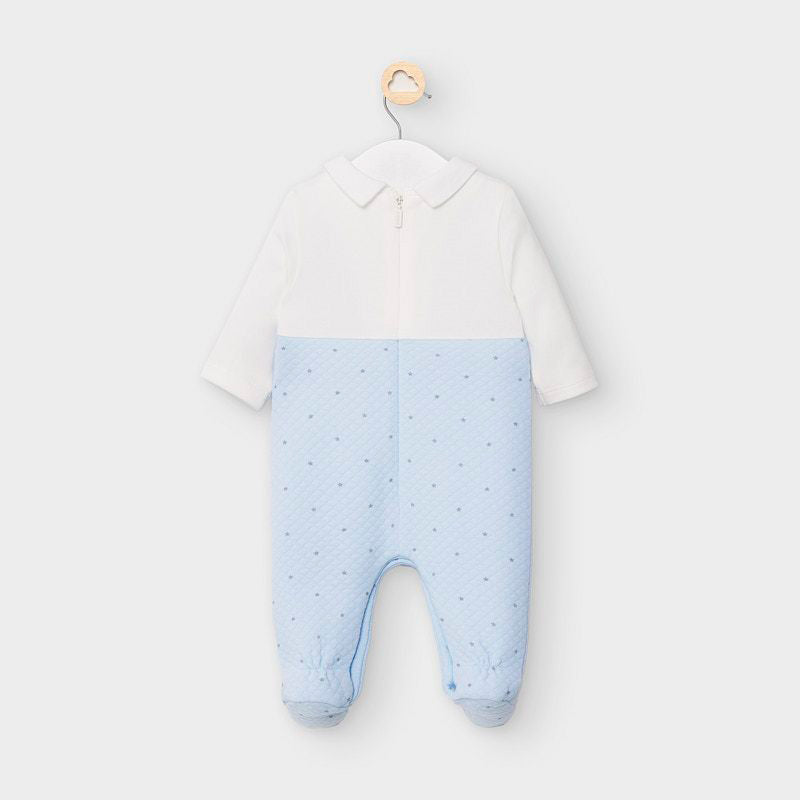 Starry Baby Blue Overall Footie